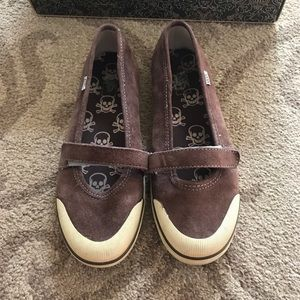 Cute Brown Gisele slip on Vans in Bracken/Fog